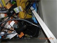 LOT ASSORTED TOOLS / MISC / TUB AS FOUND