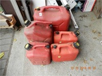 (5) ASSORTED GAS CANS
