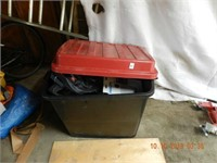 STORAGE TUB / ASSORTED CONTENTS AS FOUND