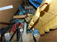 LOT ASSORTED HARDWARE / TOOLS / MISC