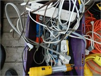 LOT ASSORTED POWER CORDS / MISC AS FOUND