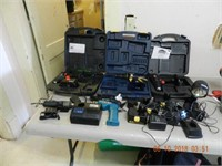 LOT OF ASSORTED DRILLS / ACCESSORIES