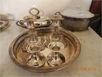 LOT ASSORTED SILVERPLATE / STERLING CANDLESTICKS