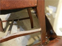 SET OF 6 CARVED SOLID WALNUT DINING CHAIRS