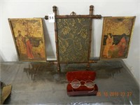 OLD GLASSES /CASE / DECORATIVE WALL ART