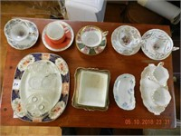 LOT ASSORTED CUPS / SAUCERS / ASSORTED MISC.