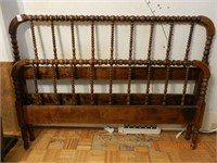 """SPOOL BED / RAILS - DOUBLE SIZE 54"""" AS FOUND"""