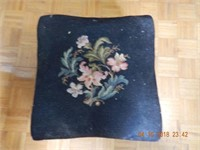 QUEEN ANNE OTTOMAN / NEEDLE POINT UPH.