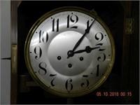 OAK GRANDMOTHER CLOCK - TRIPLE CHIME -