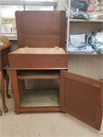 Walnut wash stand with lift top