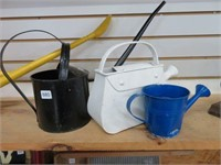 3 small watering cans