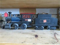 """Canadian national wooden train.  21"""" long, 6"""""""