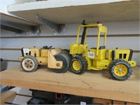 Tonka fork lift and roller