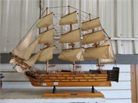 "HMS victory wooden model ship.  29"" x 26"" high"