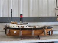 "Samsung wooden model ship.  24"" long"