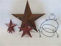 Decorative star and pie rack