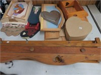 Large group of wooden items