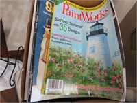 Box of assorted magazines