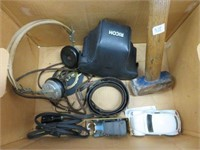 Box of horse grass, early ear phones, die cast