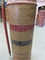 "Guardian copper fire extinguisher.  24"" high"