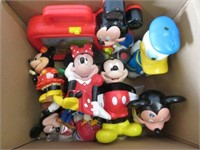 Box of Mickey Mouse toys