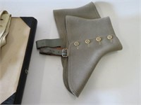 Group of hats, gloves, case etc