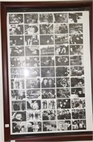 """The Beatles framed print.  23"""" x 33"""", and belt"""