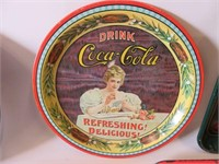 Group of 5 Coca Cola trays
