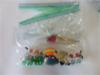 Group of fishing lures and reels