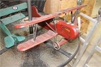 "Wooden model plane.  30"" Wing span"