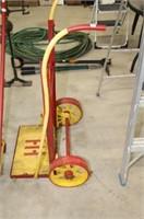 Steel wheel dolly cart