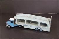 "Dinky car transporter truck.  10"""