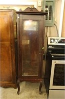 "EARLY GLASS DOOR CHINA CABINET 19"" x 18"" x 72""h"