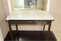 GRANITE TOP TABLE WITH DRAWER
