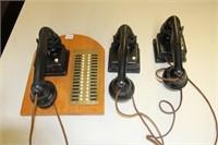 3 ANTIQUE PHONES