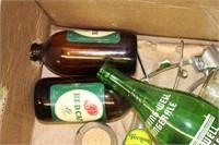 BOX OF POP BOTTLES