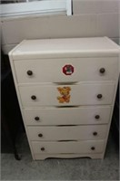 """PAINTED 5 DRAWER CHEST 28"""" W X 43'T"""