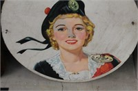 PAINTED PLAYER WOOD PLAQUE 24""
