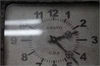 """AMANO BATTERY CLOCK  14"""" x 18"""""""