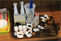 NAPKIN RINGS, CANDLE HOLDERS ETC