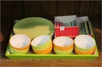 QUANTITY OF PLASTIC DISHES
