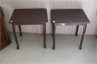 "2 END TABLES- 21"" X 18"""