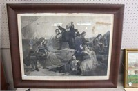 THE DEPARTURE OF THE PILGRAM FATHERS PRINT