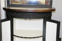 """1/2 MOON TABLE WITH MIRROR 36""""w x 72""""h"""