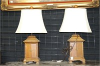 2 WARDROBE TABLE LAMPS 26""