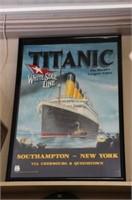 """TITANIC FRAMED POSTER 23"""" x 35"""""""