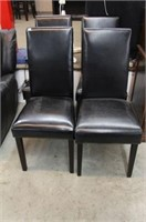 4 LEATHER DINER CHAIRS