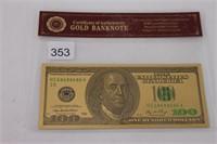 $100 U.S. FAKE BILL