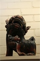 """WOODEN CARVED DRAGON 12"""""""