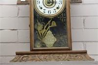 "GINGERBREAD SHELF CLOCK 23"""